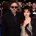 Helena Bonham Carter and Tim Burton attend the European premiere of Dark Shadows 114096
