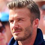 David Beckham and his son Brooklyn watch the racing on Day 14 of the London 2012 Olympic Games at the BMX Track 123045