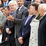 David Beckham at the torch handover ceremony in Athens 114903