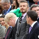 David Beckham at the torch handover ceremony in Athens 114904