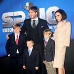 David and Victoria Beckham with their children at BBC Sports Personality Awards 2010  75375