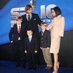 David and Victoria Beckham with their children at BBC Sports Personality Awards 2010  75376