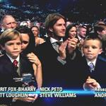 David and Victoria Beckham with their children at BBC Sports Personality Awards 2010  75381