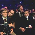 David and Victoria Beckham with their children at BBC Sports Personality Awards 2010  75382
