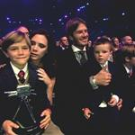 David and Victoria Beckham with their children at BBC Sports Personality Awards 2010  75383