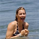 Tea Leoni and David Duchovny happy on the beach in Malibu 43213