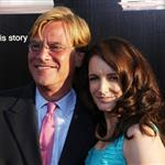 Aaron Sorkin and Kristin Davis at the LA premiere of The Newsroom 118288