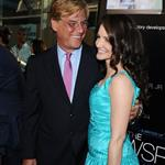 Aaron Sorkin and Kristin Davis at the LA premiere of The Newsroom 118291