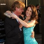 Aaron Sorkin and Kristin Davis at the LA premiere of The Newsroom 118294