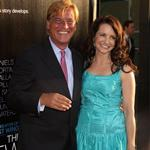 Aaron Sorkin and Kristin Davis at the LA premiere of The Newsroom 118295