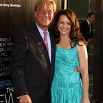 Aaron Sorkin and Kristin Davis at the LA premiere of The Newsroom 118296