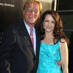 Aaron Sorkin and Kristin Davis at the LA premiere of The Newsroom 118300