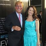 Aaron Sorkin and Kristin Davis at the LA premiere of The Newsroom 118303