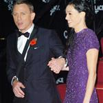 Daniel Craig and Satsuki Mitchell at the London premiere of Bond Quantum of Solace  26730