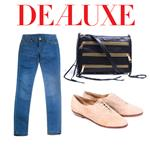 Rebecca Minkoff zip clutch, Modern Vintage dance flats, and a pair of skinnys 85689