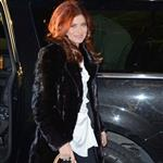 Debra messing enters the Today Show studios 105013