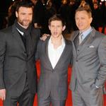 Daniel Craig, Liev Schreiber and Jamie Bell at London premiere of Defiance 30193
