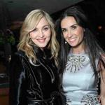 Madonna and Demi Moore at the GREY GOOSE/CAA Foundation Pre-Golden Globes Party at Soho House West Hollywood 103261