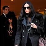 Salma Hayek and Demi Moore shopping in Paris 78600