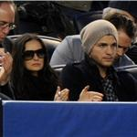 Demi Moore and Ashton Kutcher at Yankees game just before release of The Joneses  58969