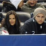 Demi Moore and Ashton Kutcher at Yankees game just before release of The Joneses  58974