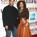 Denzel Washington and Oprah at the premiere of The Great Debaters 15493