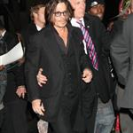 Johnny Depp in New York last night at Tim Burton's event at the MoMA 50826