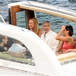 George Clooney, Stacy Keibler, Channing Tatum and Jenna Dewan boating around Lake Como with Clooney's parents 120639