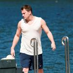 Channing Tatum spotted on a boat with wife, Jenna Dewan on Como Lake 120644
