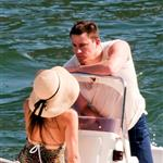 Channing Tatum spotted on a boat with wife, Jenna Dewan on Como Lake 120646