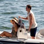 Channing Tatum spotted on a boat with wife, Jenna Dewan on Como Lake 120648