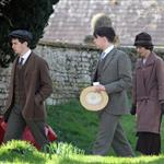 Downton Abbey shooting a wedding scene  108314