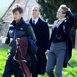 Filming of 'Downton Abbey' Series 3 in Bampton, Oxfordshire 112626