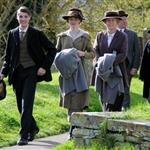 Filming of 'Downton Abbey' Series 3 in Bampton, Oxfordshire 112627