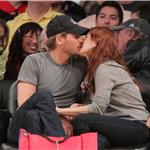 Drew Barrymore PDA Will Kopelman courtside at Laker game 83543