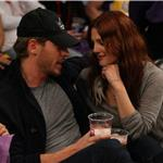 Drew Barrymore PDA Will Kopelman courtside at Laker game 83546