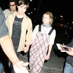 Drew Barrymore and Justin Long leaving a Green Day concert 40536