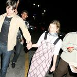 Drew Barrymore and Justin Long leaving a Green Day concert 40535