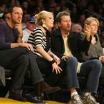 Drew Barrymore at the Laker game 32609