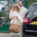 Rachel McAdams and Michael Sheen at Wimbeldon 120125