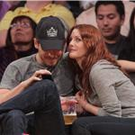 Drew Barrymore and Will Kopelman at a Los Angeles Lakers Game at Staples Center, April 2011 101797