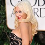 Christina Aguilera at the Golden Globes January 2011 77211