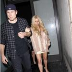 Jessica Simpson looks drunk as she and Eric Johnson leave Katsuya 77500