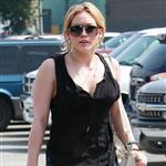 Hilary Duff in short shorts at casting call 35285