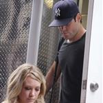 Mike Comrie visits Hilary Duff on Gossip Girl set 44165