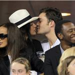 Ed Westwick Jessica Szohr at US Open all over each other September 2010  68113