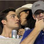 Ed Westwick Jessica Szohr at US Open all over each other September 2010  68118