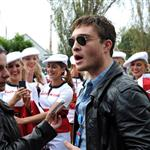 Ed Westwick in Melbourne for F1 Qantas Australian Grand Prix 82075