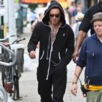 Ed Westwick on the set of Gossip Girl in the Bowery, Manhattan 122112
