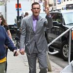 Ed Westwick on the set of Gossip Girl in the Bowery, Manhattan 122117